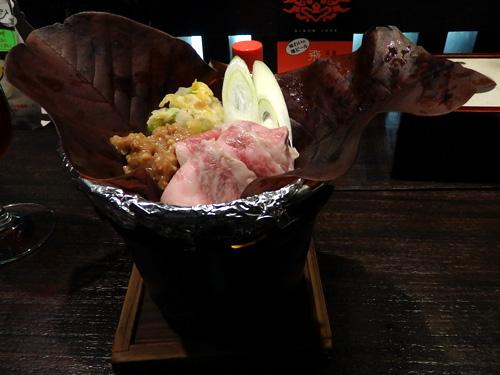 55飛騨牛朴葉味噌焼き
