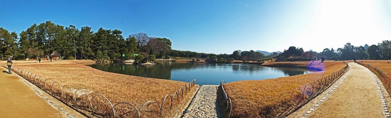 s-20151220 後楽園今日の沢の池のワイド風景 (1)