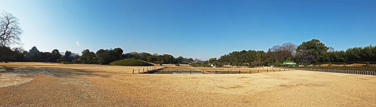 s-20160113 後楽園今日のイベント広場からの眺め園内ワイド風景 (1)