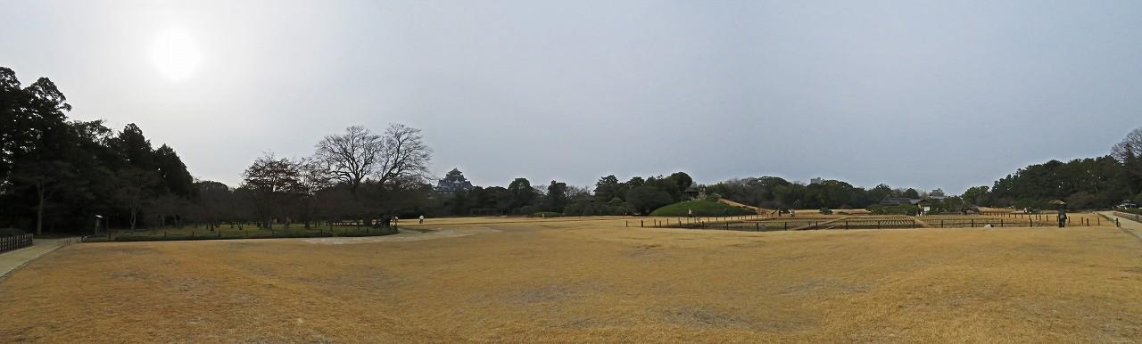 s-20160117 後楽園茶畑前から眺めた今日の園内ワイド風景 (1)