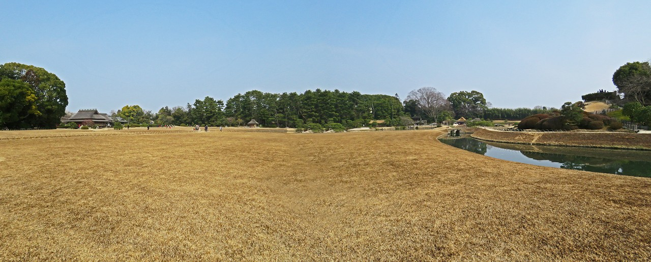s-20160228 後楽園今日の廉池軒側から眺めた園内ワイド風景 (1)