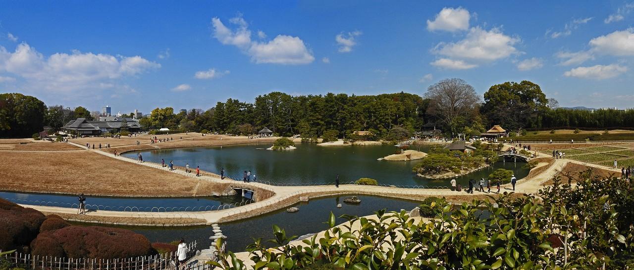 s-20160302 後楽園開園記念日の園内の様子唯心山から眺めたワイド風景 (1)