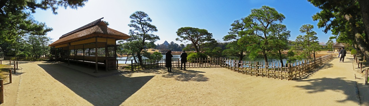 s-20160303 後楽園今日の観光定番位置の園内ワイド風景 (1)