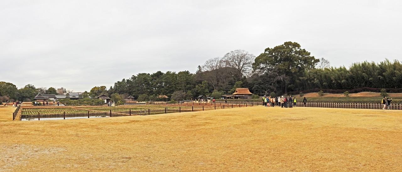 s-20160306 後楽園今日のイベント広場から眺めた園内ワイド風景 (1)