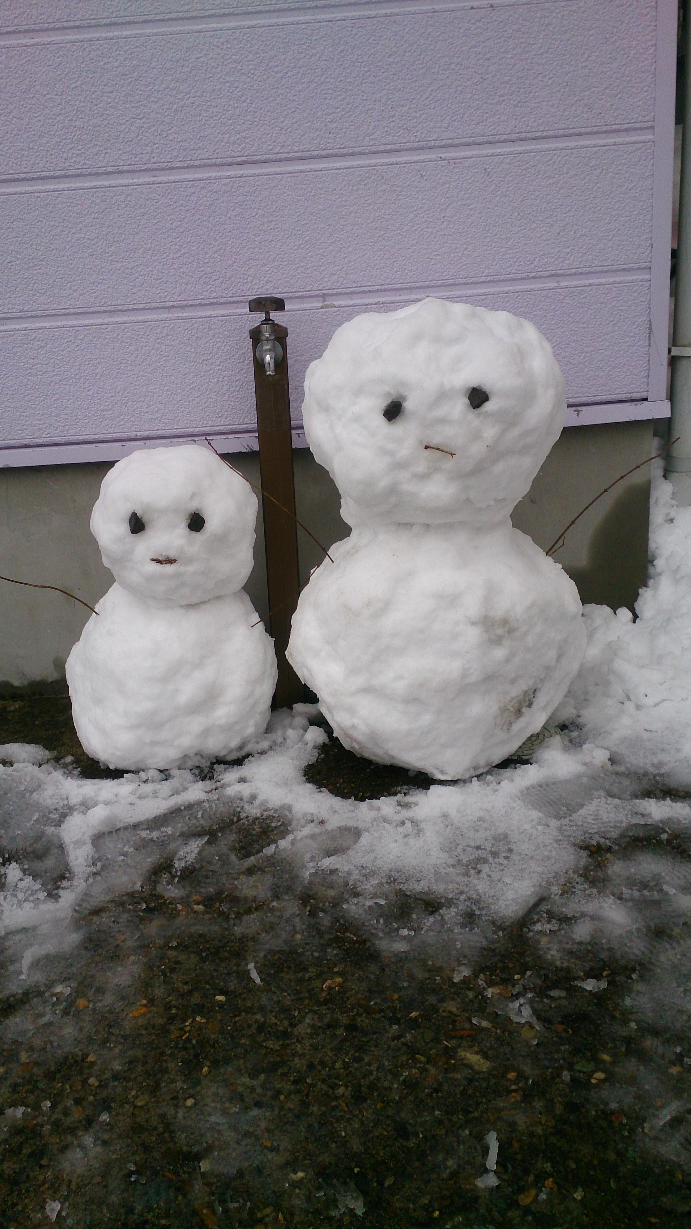 親子雪だるま