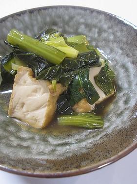 20160224 小松菜と絹揚げ煮