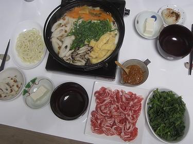 20160311春菊ときのこ鍋 (1)