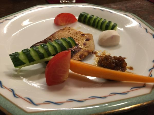 マナガツオの西京焼きに地物の野菜8