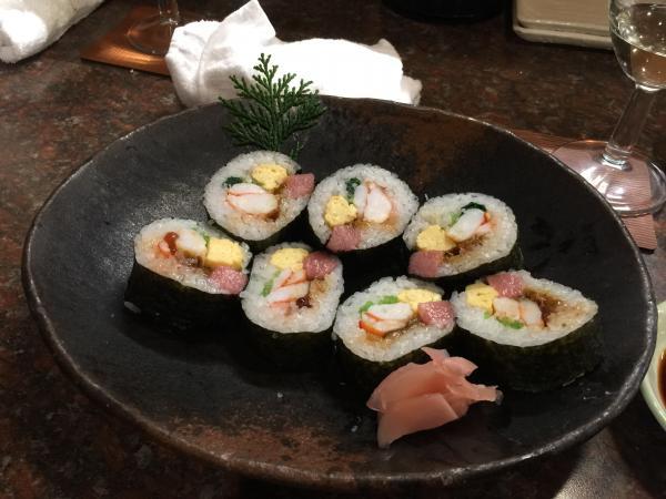 トロと車海老等の巻き寿司9