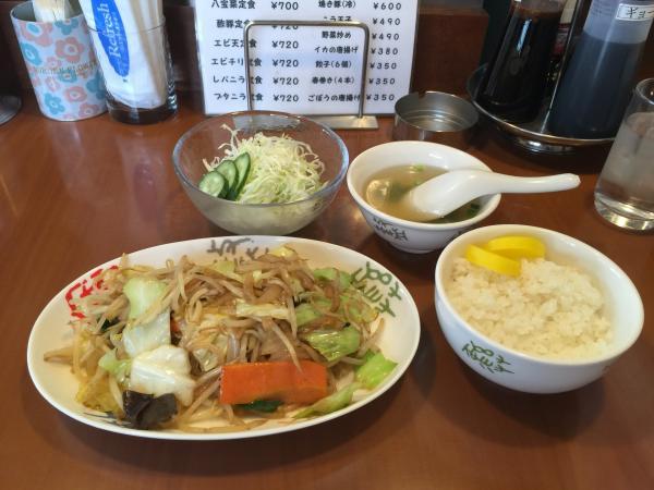 野菜炒め定食4