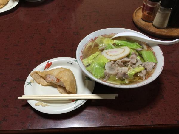 チャンポンといなり寿司4