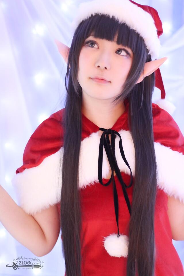 ☆ソードアート・オンラインII 月刊アニメディア2014年12月号表紙 クリスマスサンタ衣装 あわせ@ココフリファクトリー☆