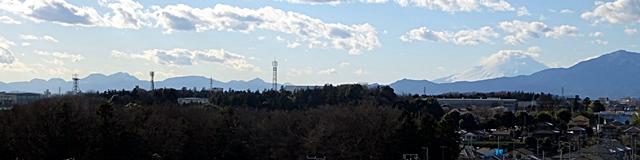 DSC04380箱根連山と富士山