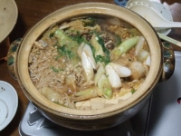 12/13 夕食 海老味噌鍋