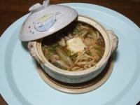 12/14 昼食 海老味噌鍋のつゆで鍋焼きうどん