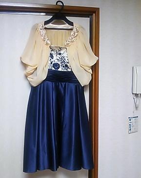 記念のドレス