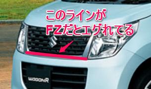 スズキ ワゴンR FX グリルの違い