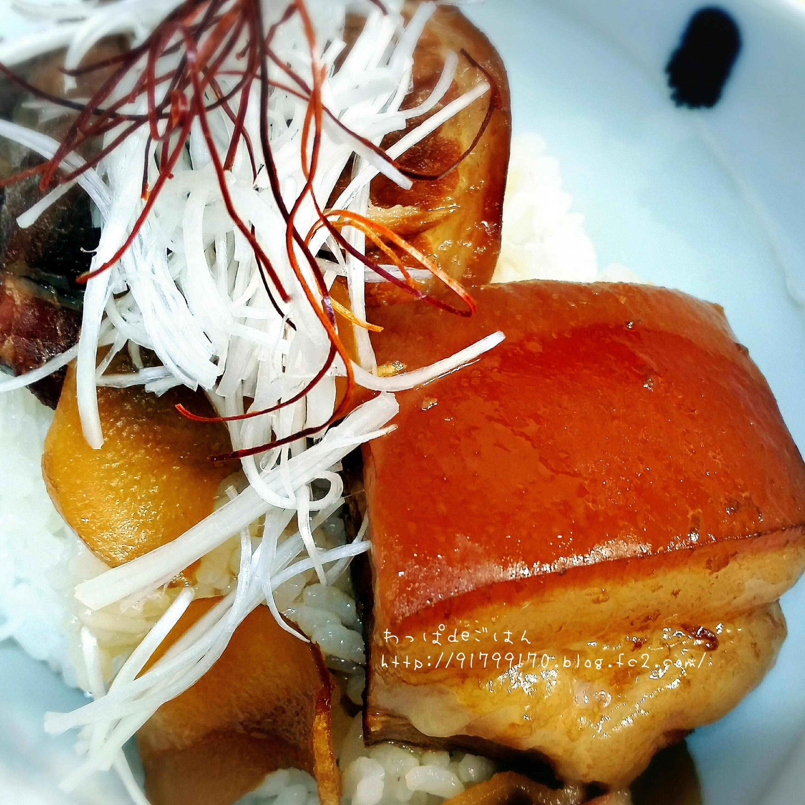 皮付き豚バラ角煮丼