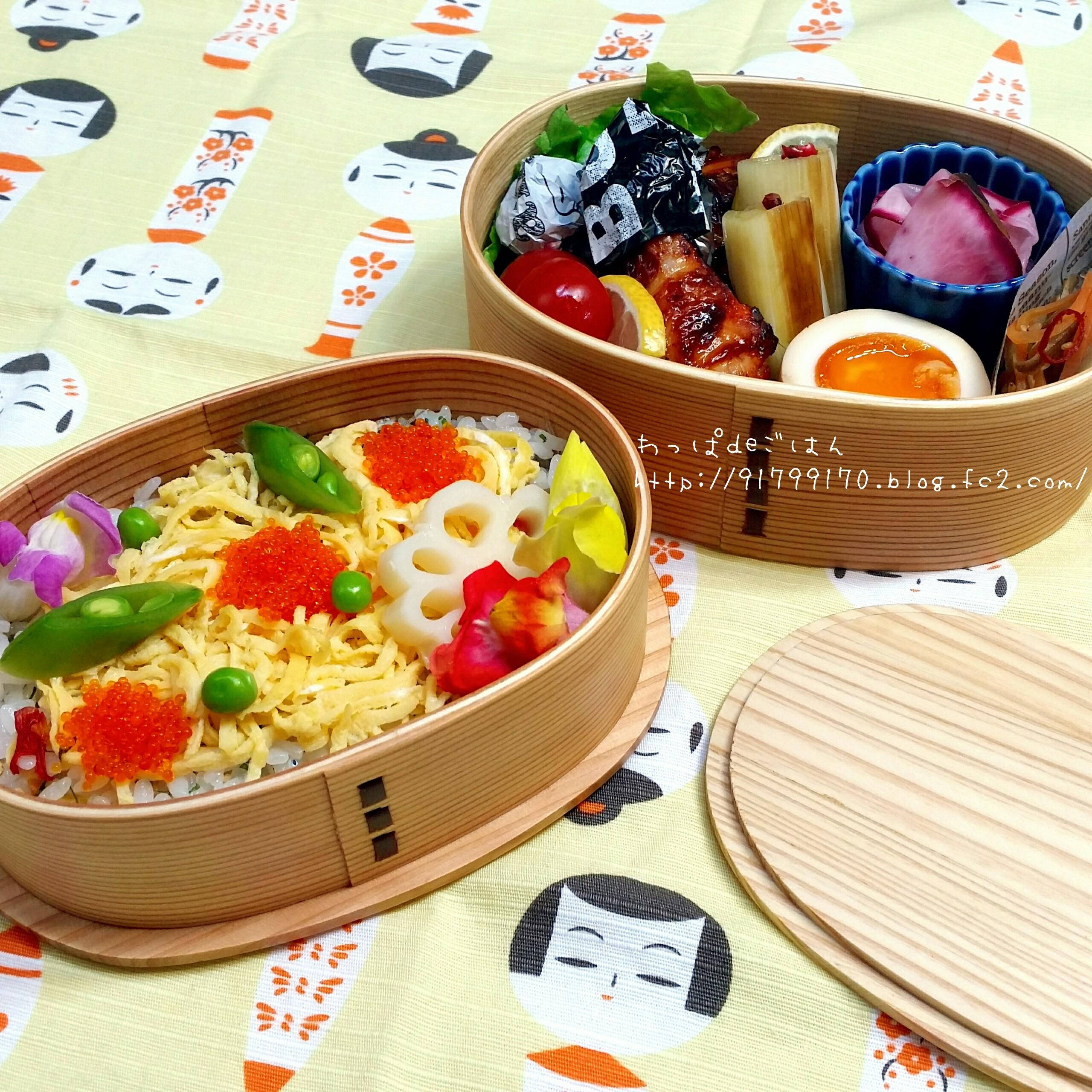 エディブルフラワーのちらし寿司弁当