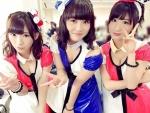 AKB48 石田晴香 岩佐美咲 阿部マリア セクシー おっぱいの谷間 誘惑 ピース エロかわいい画像10225