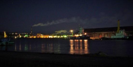 室蘭港夜 (2)