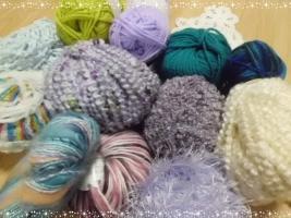 毛糸 ブルー系