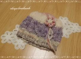 手編み 帽子