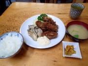 築地市場 場内 小田保 牡蠣ミックス定食(2016/2/4)