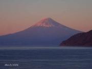 2016年最初の夕焼け富士