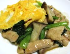 鶏むね肉のオイスターソース炒め 卵焼きのっけ 調理⑥