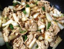 豚肉と白菜のしょうが焼き 調理⑤