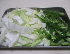 豚肉と白菜のしょうが焼き 【下準備】②
