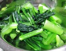 小松菜しらす 調理①
