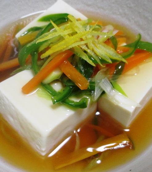 豆腐の野菜あんかけ 大