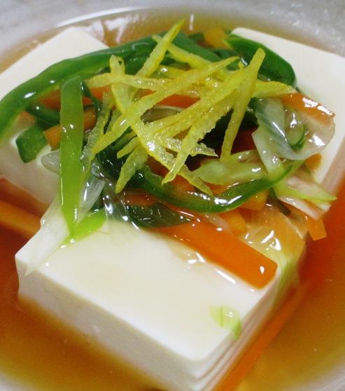 豆腐の野菜あんかけ 拡大