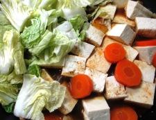 豆腐と豚こまの甘味噌煮 調理④