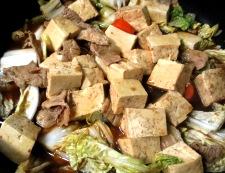 豆腐と豚こまの甘味噌煮 調理⑤