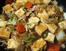 豆腐と豚こまの甘味噌煮 調理⑥