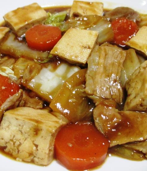 豆腐と豚こまの甘味噌煮 B