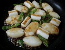 お餅とねぎの生姜風味炒め 調理⑤