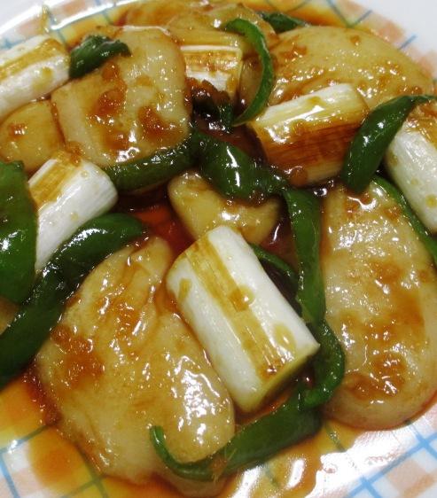 お餅とねぎの生姜風味炒め 拡大