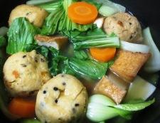 青梗菜と小さな揚げ物の煮物 調理②