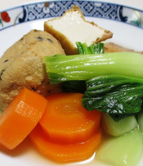 青梗菜と小さな揚げ物の煮物 大