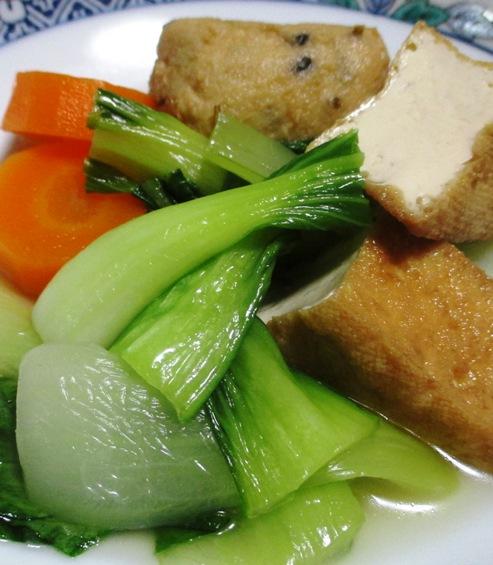 青梗菜と小さな揚げ物けの煮物 拡大