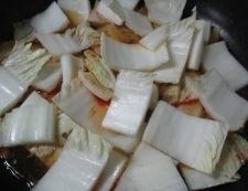 麻婆豆腐白菜 調理③