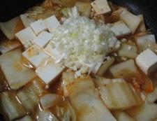 麻婆豆腐白菜 調理④