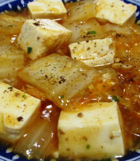 麻婆豆腐白菜 大