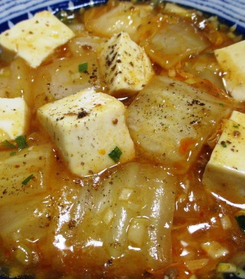 麻婆豆腐白菜 拡大