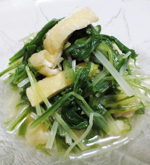 水菜とお揚げの煮物 大