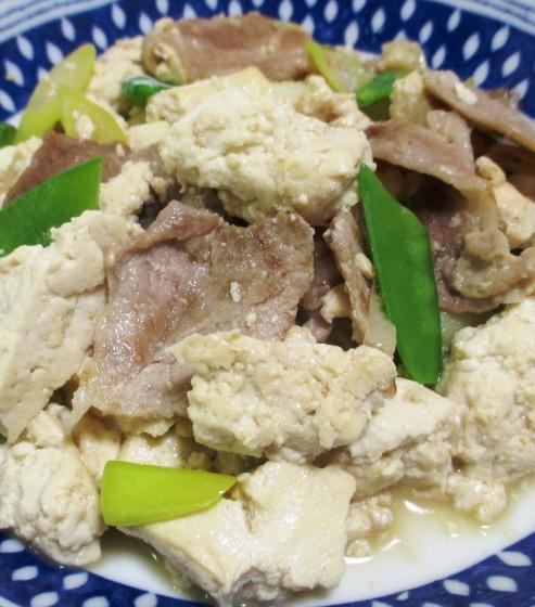 豚こまとくずし豆腐の麺つゆ炒め B